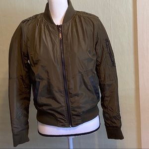 BSweet Army Green Bomber Zip up Jacket